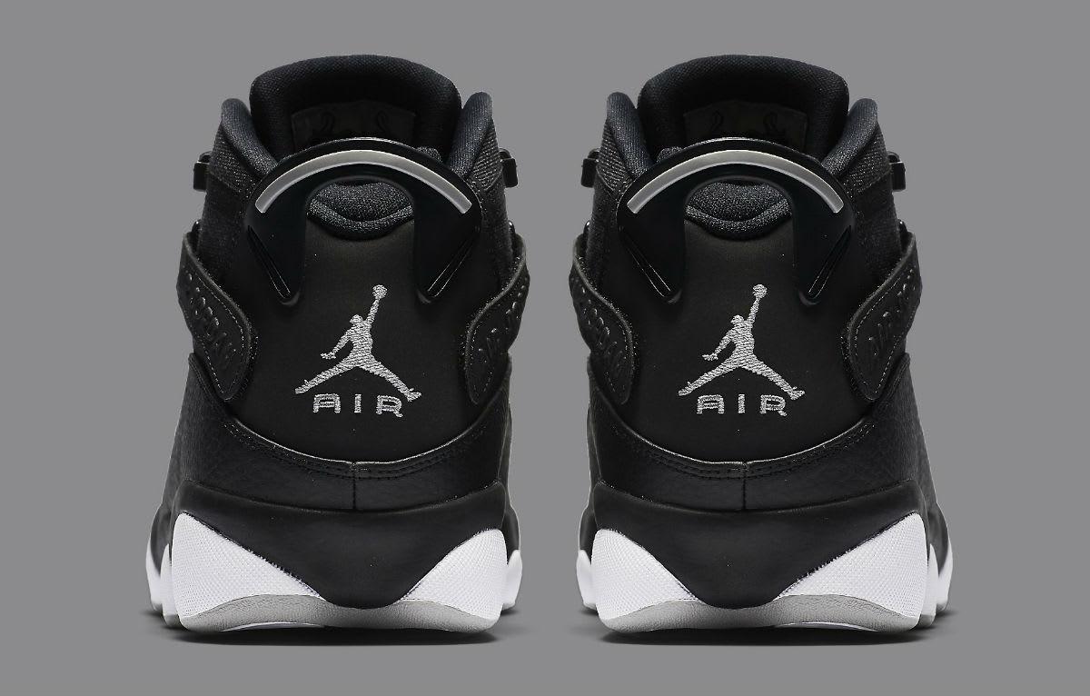 Jordan 6 Rings 2017 Black Silver Release Date Heel 322992-021