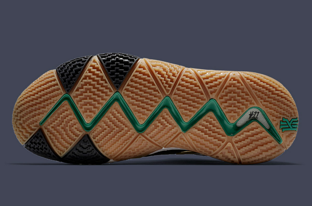 Nike Kyrie 4 Pitch Blue Gold Release Date 943807-403 Sole