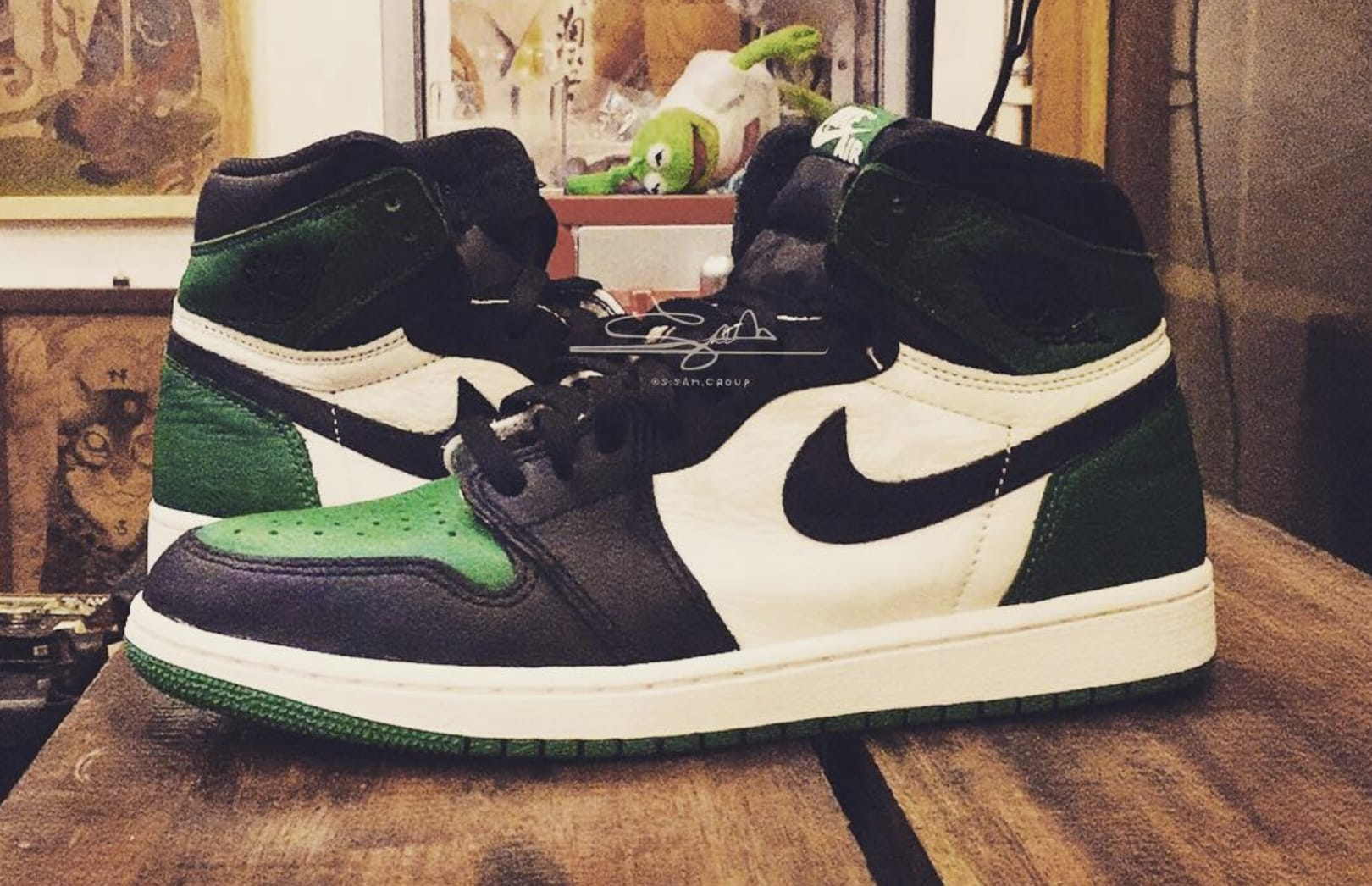 Air Jordan 1 High NRG 'Pine Green/Sail-Black' 555088-032 2