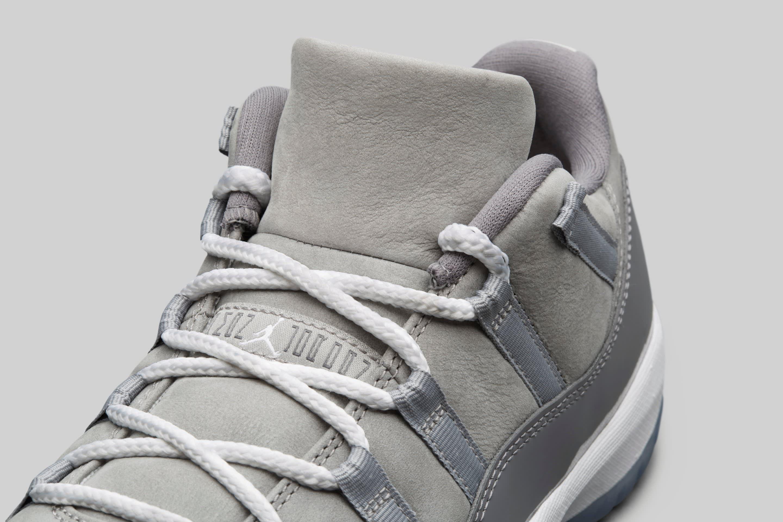 Air Jordan 11 Low 'Cool Grey' (Tongue)