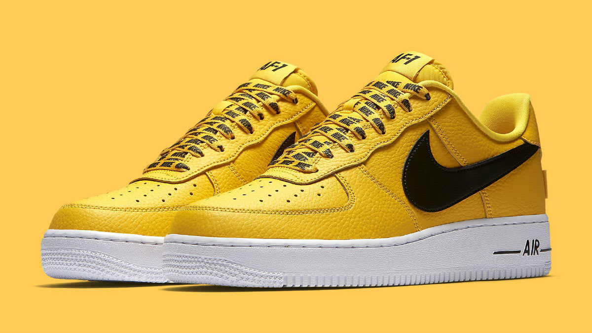 official photos 1c0d6 8af17 ... Nike Air Force 1 Low NBA Yellow Release Date 823511-701 ...