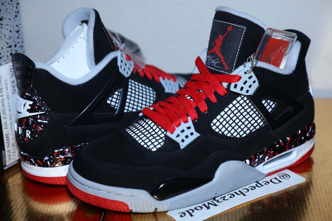 OVO Air Jordan 4 'Splatter' (Pair)