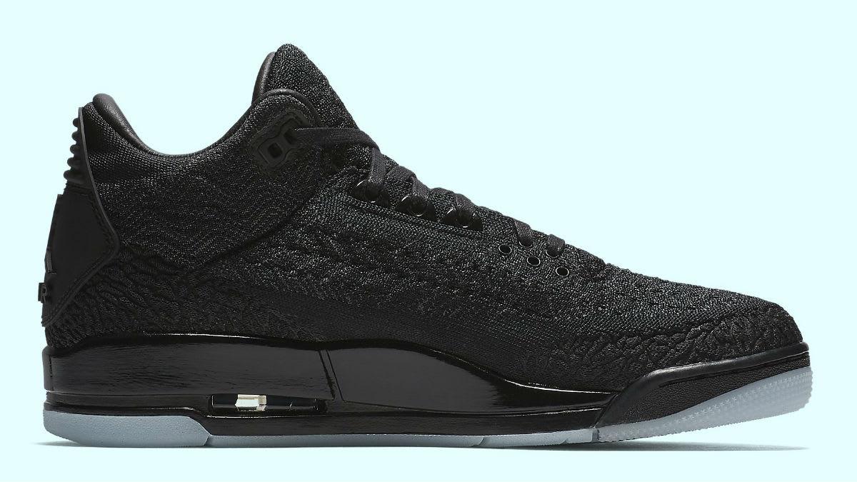 Air Jordan 3 Flyknit Black Release Date AQ1005-001 Medial