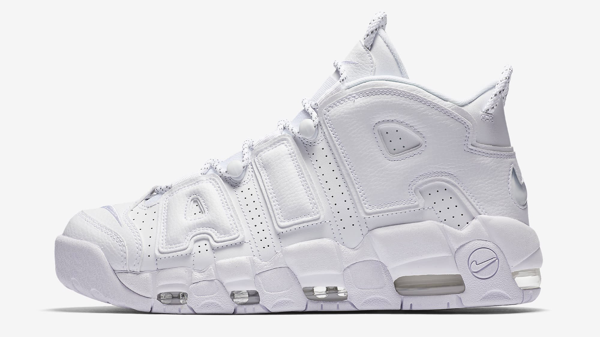 Triple White Nike Air More Uptempo 921948-100 Profile
