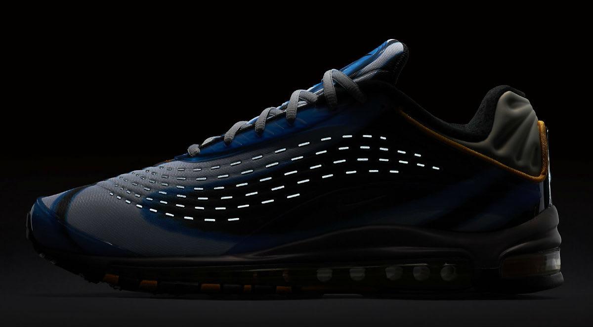 Nike Air Max Deluxe Photo Blue Wolf Grey Orange Peel Black Release Date AJ7831-401 3M