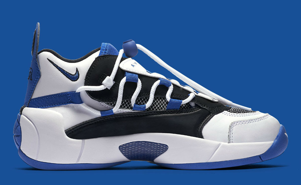 newest d4ecb f243a Image via Nike Nike Air Swoopes 2 II White Blue Release Date 917592-101  Medial