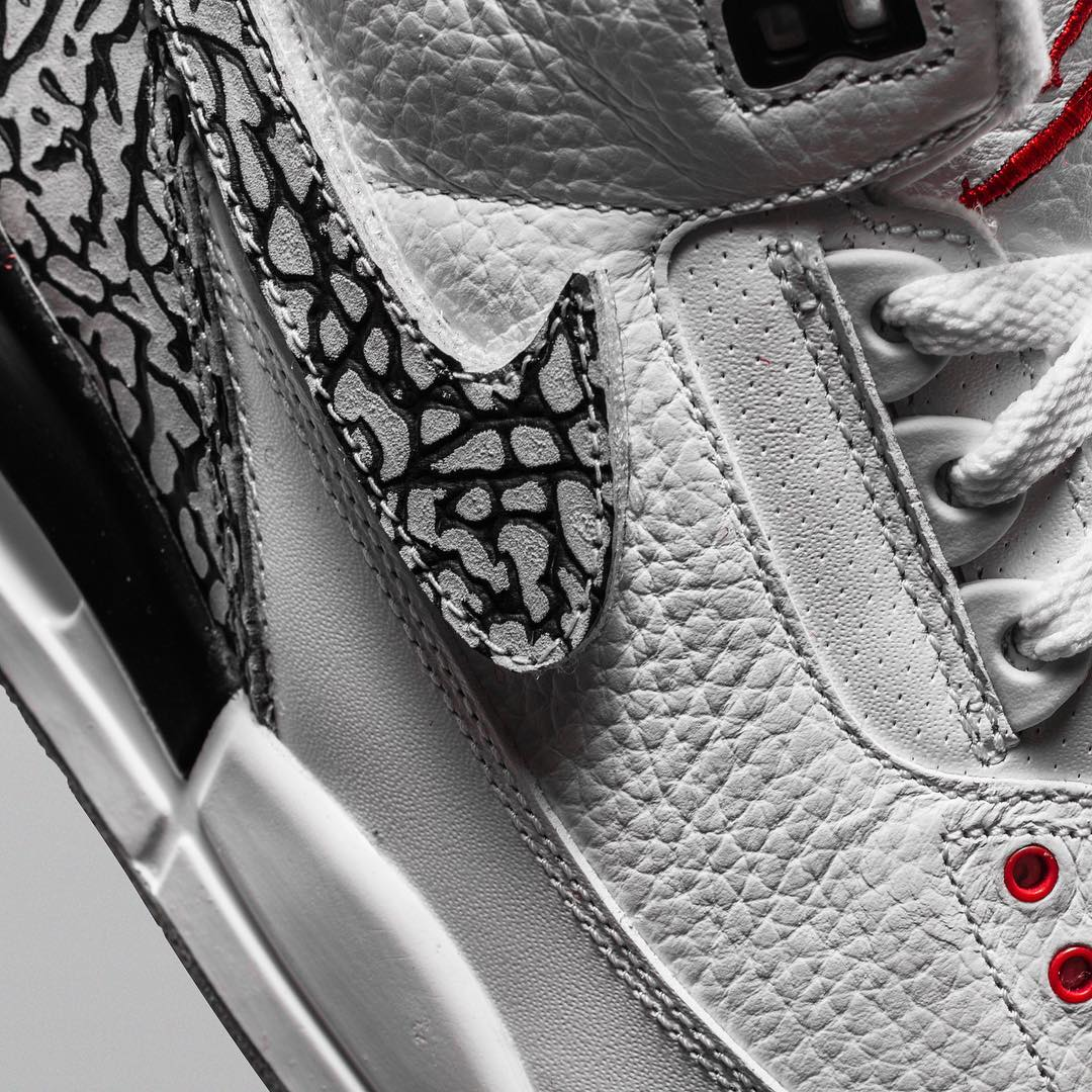 The Shoe Surgeon x Cement Air Jordan 3 Interchangeable Swoosh Custom Elephant Close