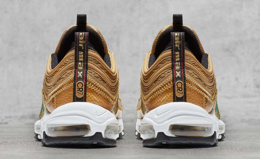 Nike Air Max 97 aq0655-700 Cristiano Ronaldo Gold Patch Heel