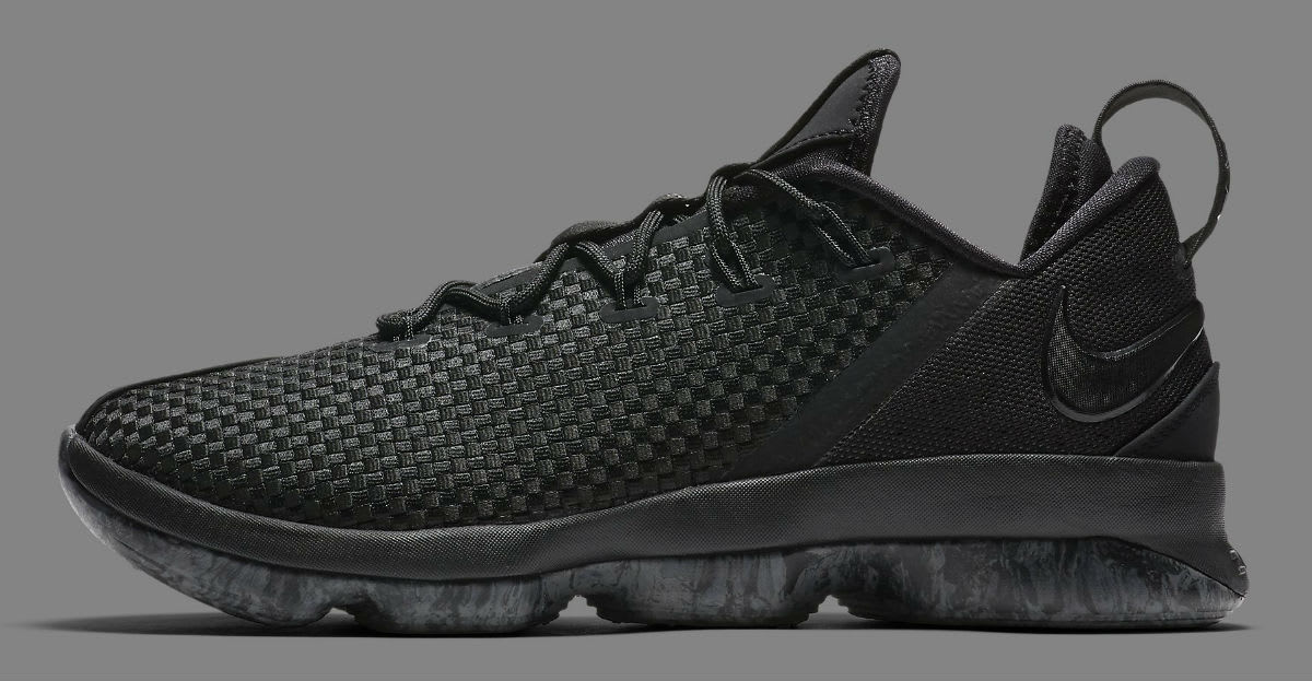 sports shoes fca4e 3bf0c ... clearance nike lebron 14 low triple black release date profile 878635  002 75261 01d29