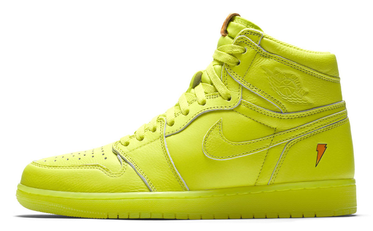 Air Jordan 1 Gatorade Cyber Yellow Lime Release Date AJ5997-345 Profile