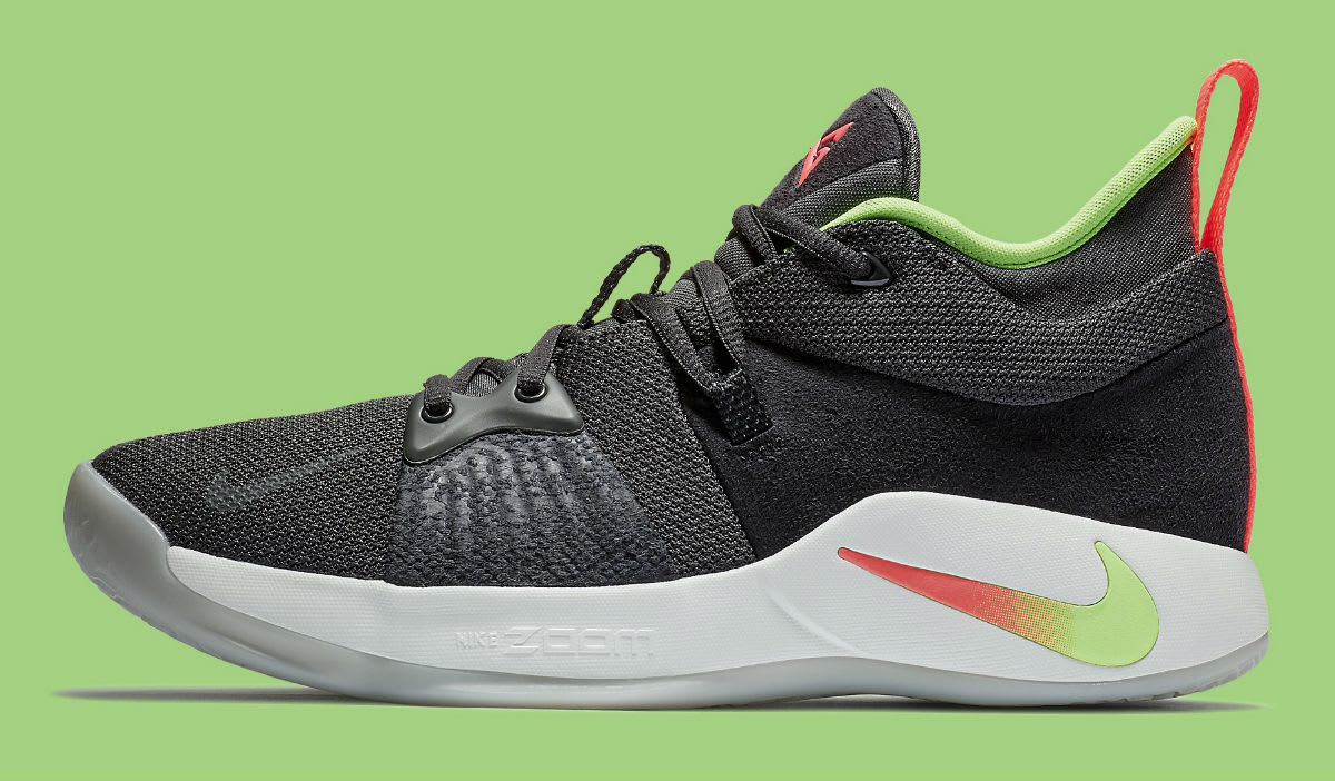 Nike PG 2 Anthracite Hot Punch White Wolf Grey Release Date AJ2039-005 Profile