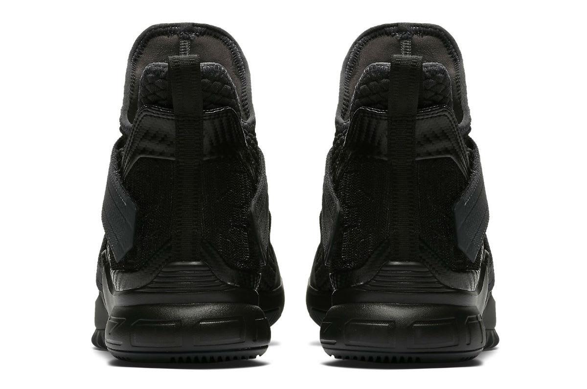 Nike LeBron Soldier 12 XII Zero Dark Thirty Triple Black Release Date AO4054-002 Heel