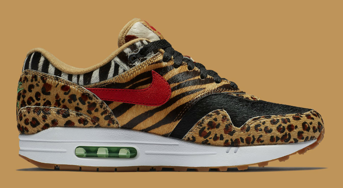 5832c1cbad ... Atmos x Nike Air Max 1 Animal Pack Release Date AQ0928-700 Medial ...