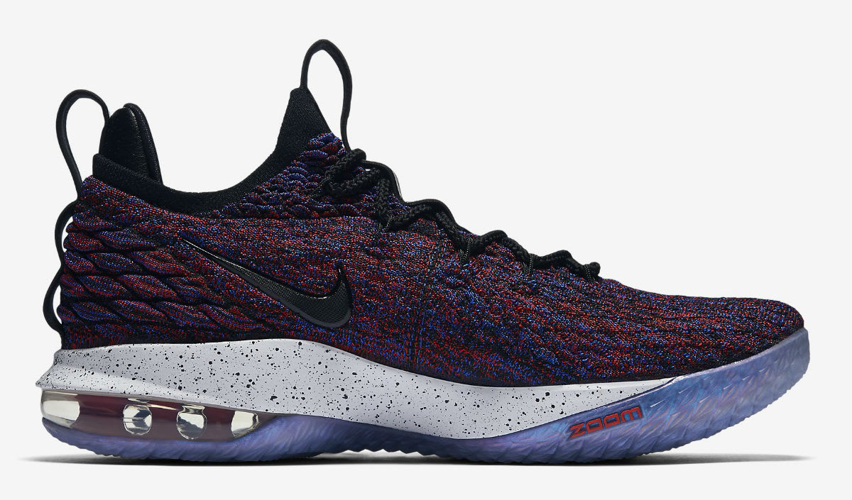 Nike LeBron 15 Low Multicolor University Red Black White Release Date AO1755-900 Medial