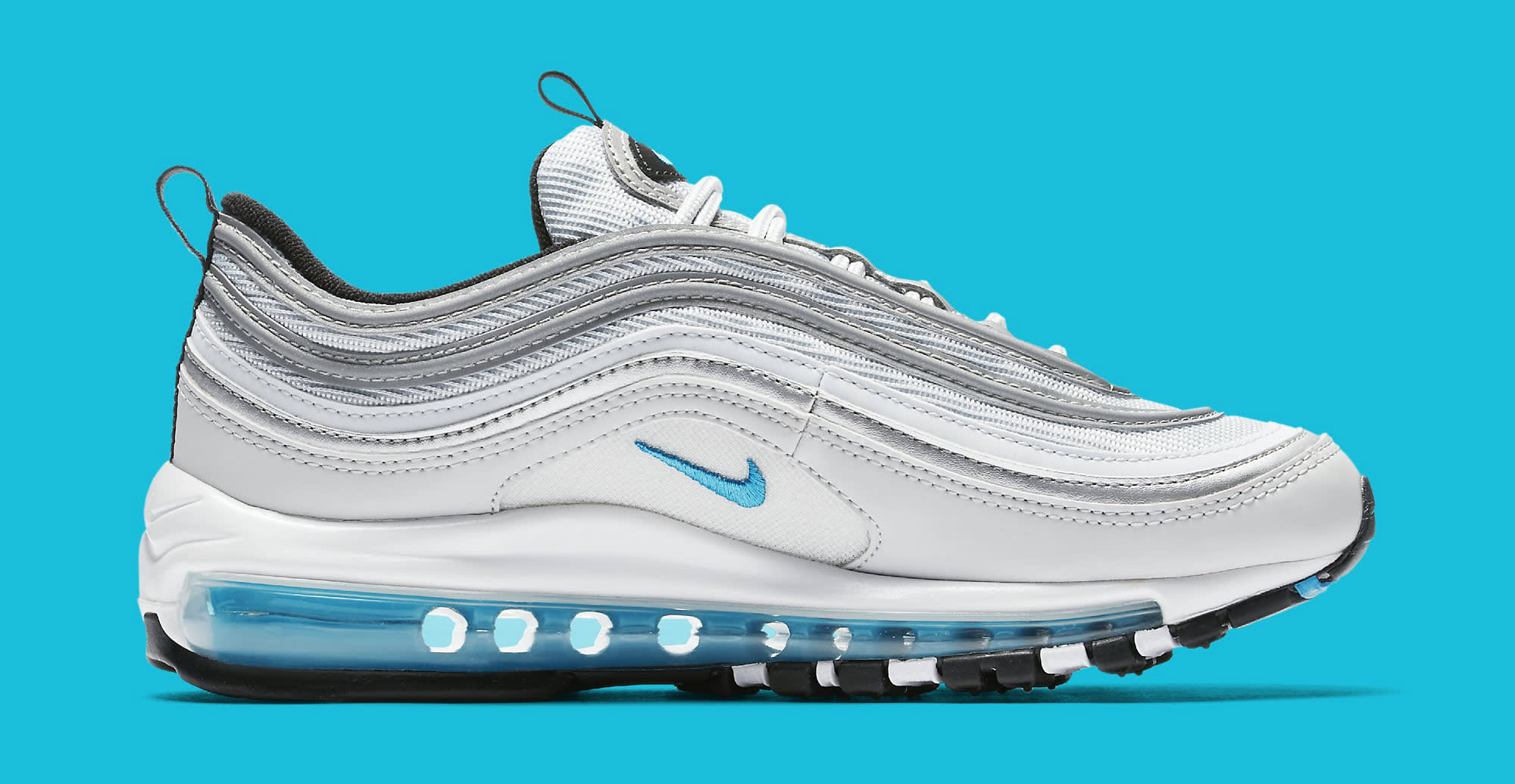 womens nike air max 97 silver blue 917647 001 sole collector. Black Bedroom Furniture Sets. Home Design Ideas