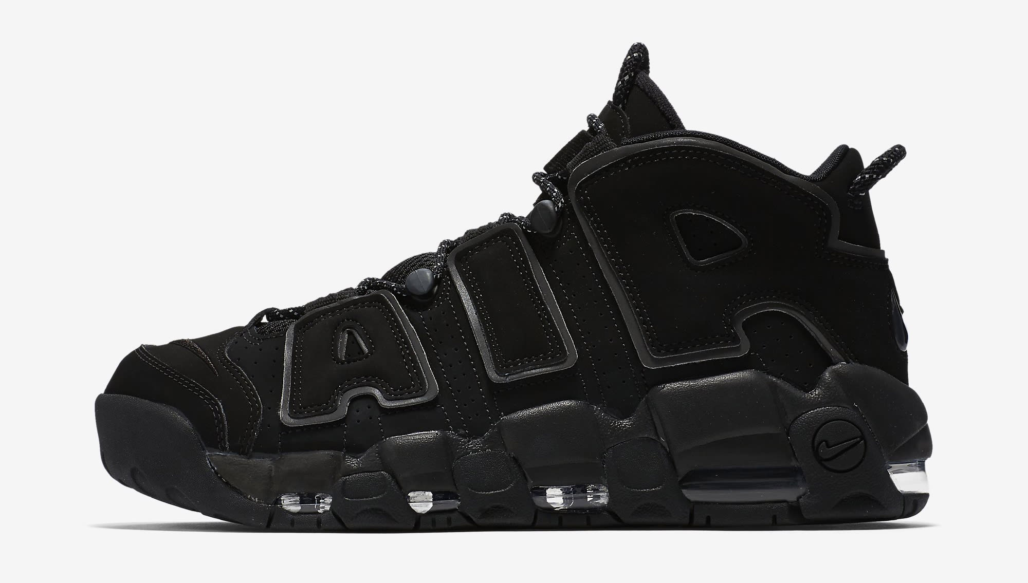 Nike Air More Uptempo Black Reflective 414962-004 Profile