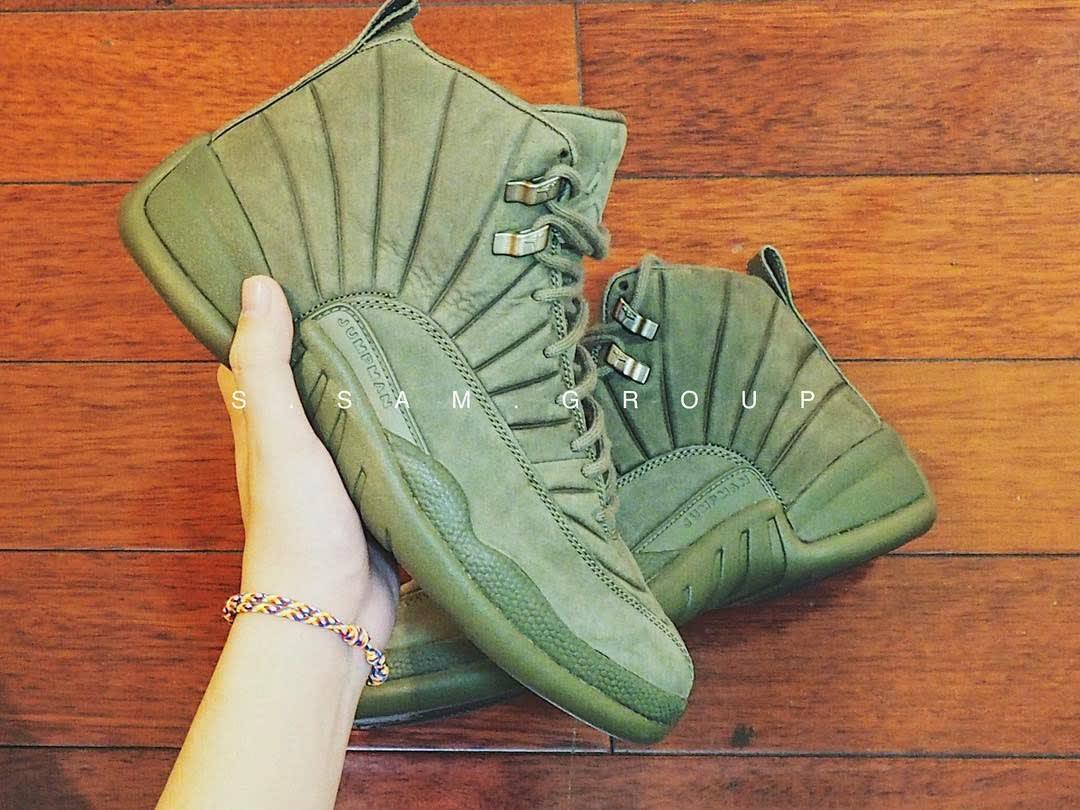a59d983b33f0 ... Milan Nike SNKRS PSNY x Air Jordan 12 Olive Release Date (9) aj 12 ...