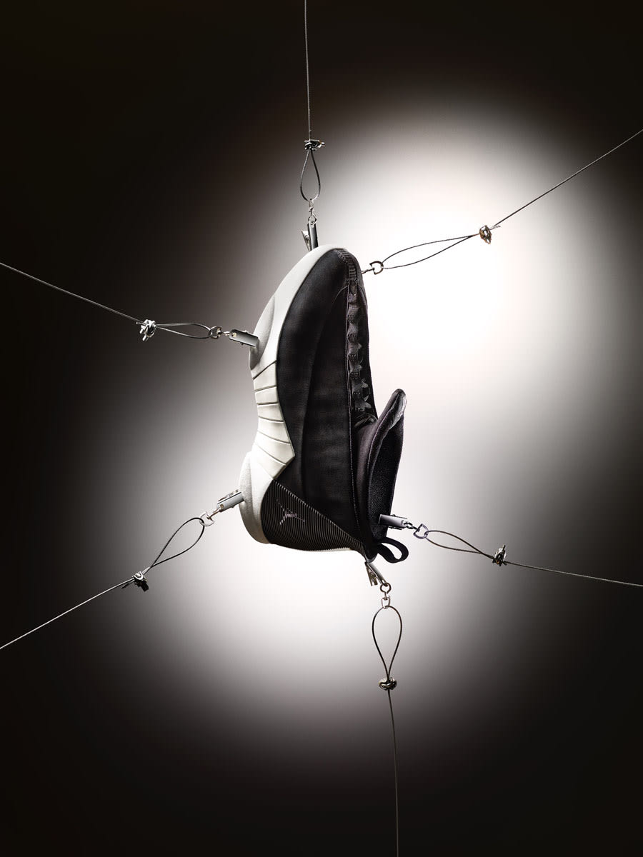 PSNY x Air Jordan 15 Black Suede Side