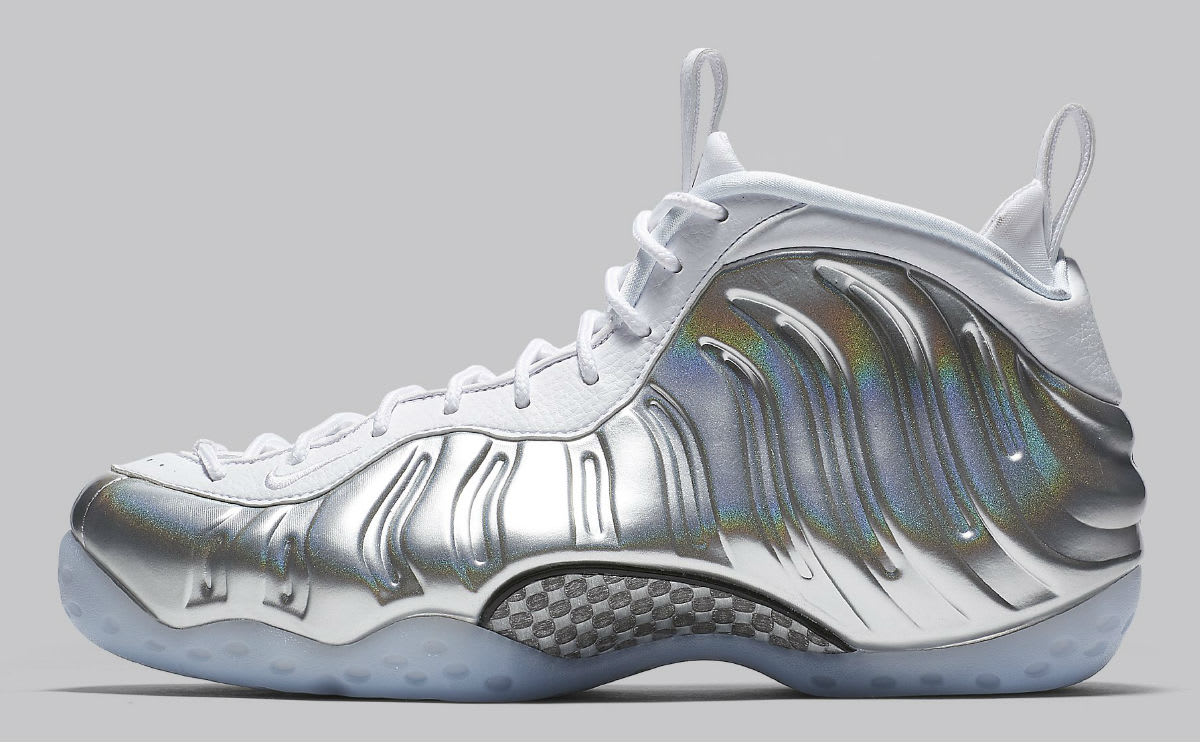 new product 09186 099ac ... Nike Womens Nike Air Foamposite One Chrome Release Date AA3963-100  Profile ...