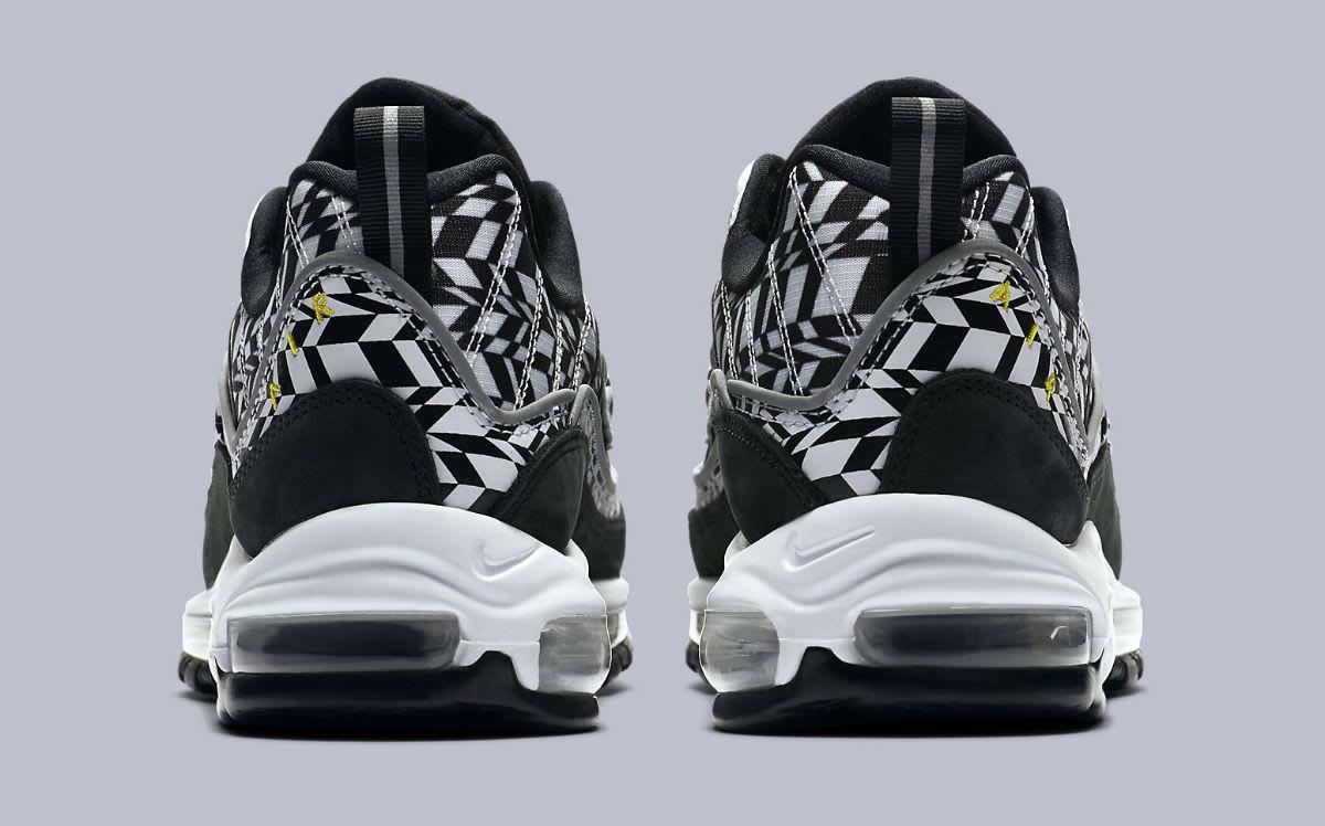 Nike Air Max 98 AOP White Team Orange Black Release Date AQ4130-100 Heel