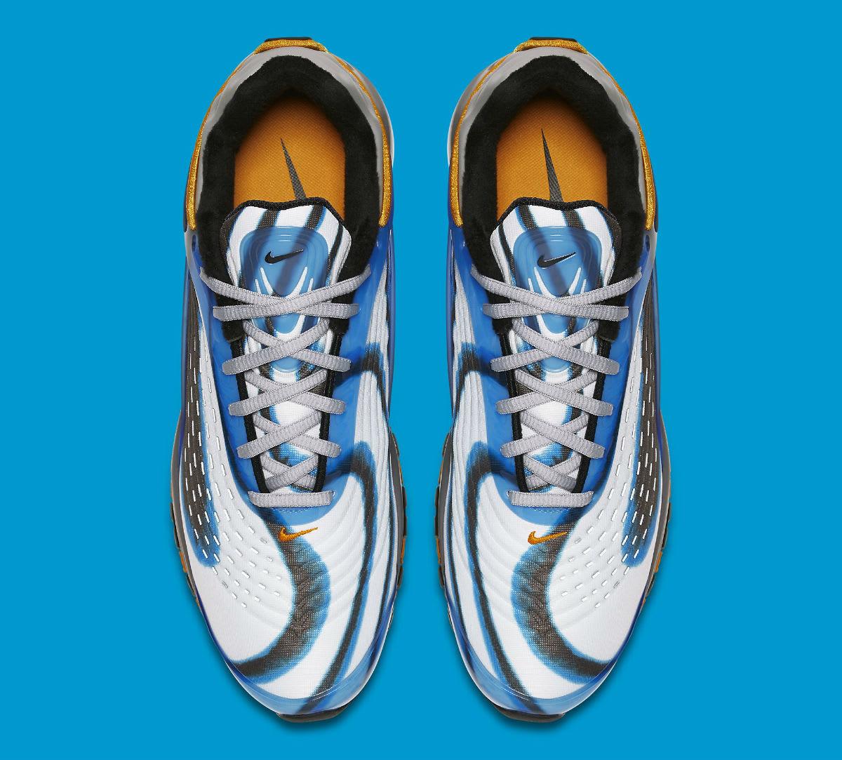 Nike Air Max Deluxe Photo Blue Wolf Grey Orange Peel Black Release Date AJ7831-401 Top