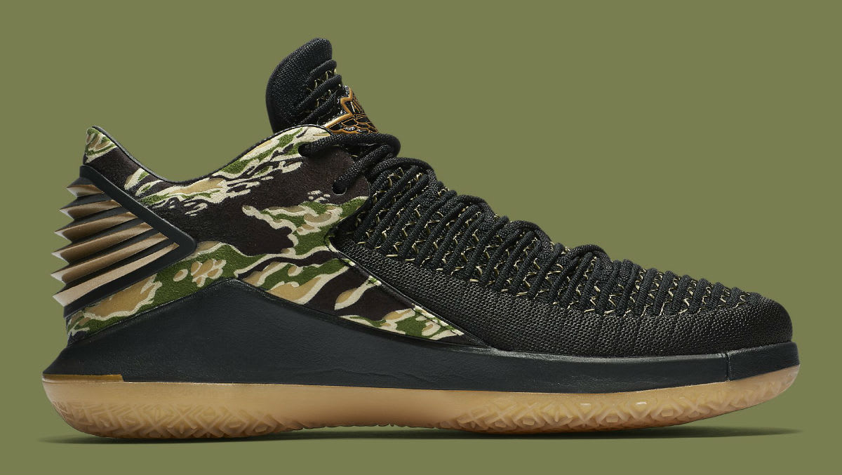 timeless design 67404 5fd59 ... online for sale Air Jordan 32 Low Camo Mens Release Date AA1256-021  Medial ...