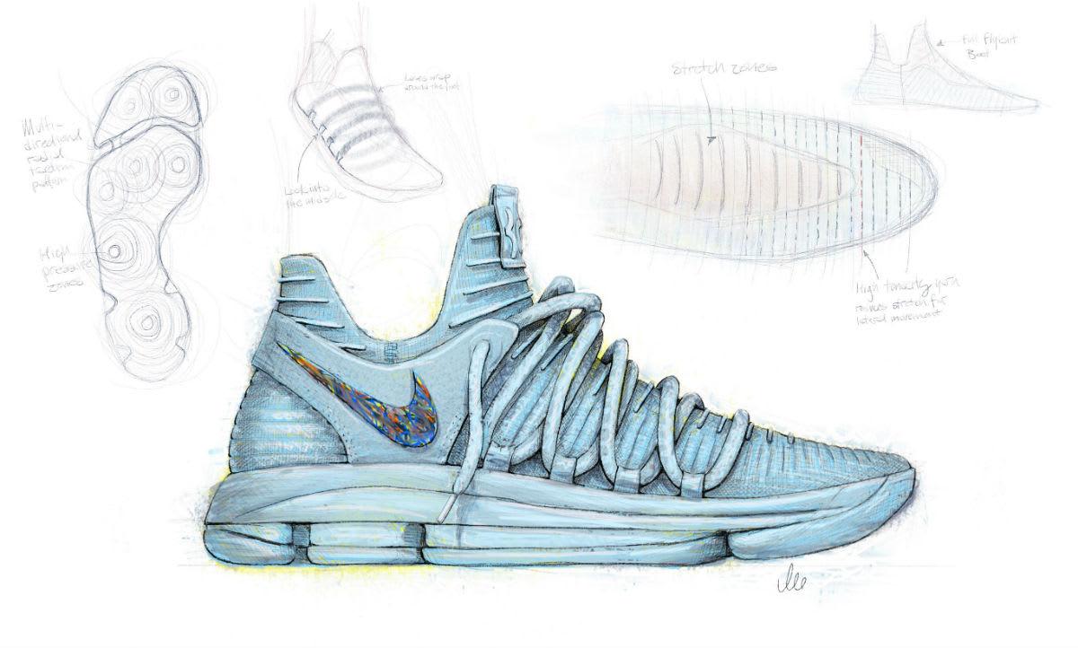 Nike KD 10 Sketch