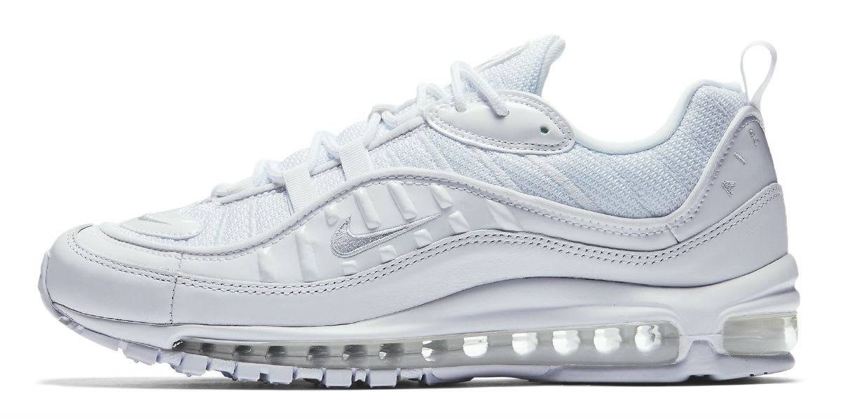 Nike Air Max 98 White Pure Platinum Release Date 640744-106 Profile