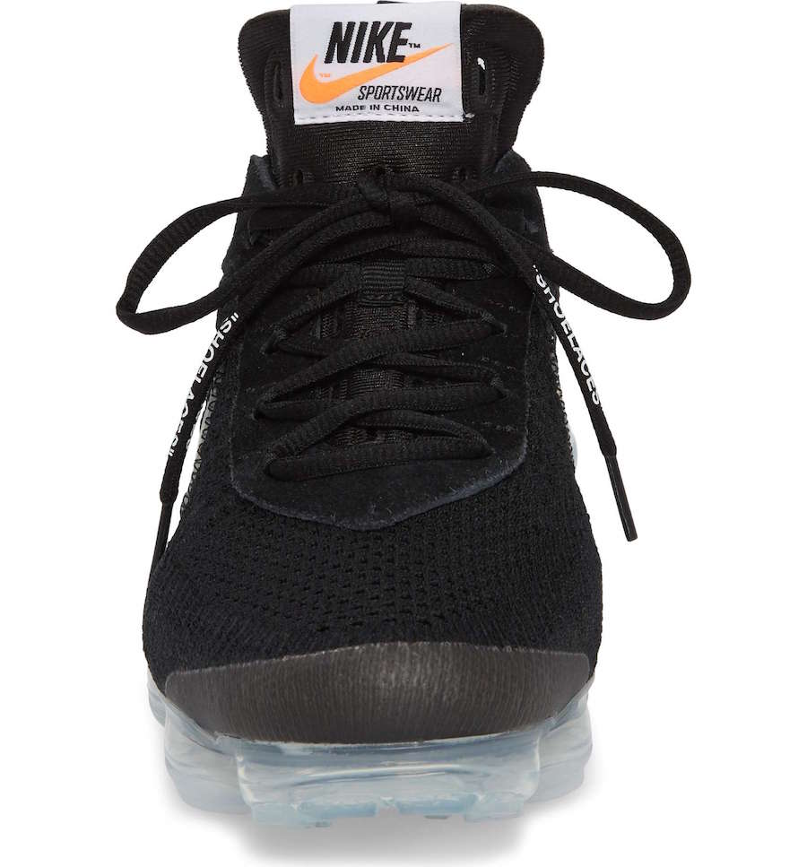 Off-White x Nike Air VaporMax Black Release Date AA3831-002 Tongue