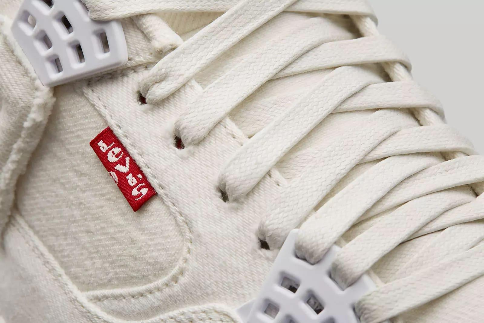 Levi's x Air Jordan 4 'White' AO2571-100 (Detail)