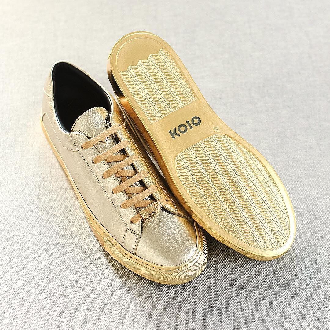 Koio Jamie Lannister Kingslayer Gold Sneakers Profile