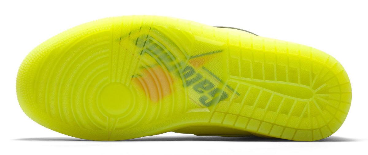 "5820804207f043 ... Air Jordan 1 Gatorade Cyber Yellow Lime Release Date AJ5997-345 Sole  Air  Jordan 1 Retro High "" ..."