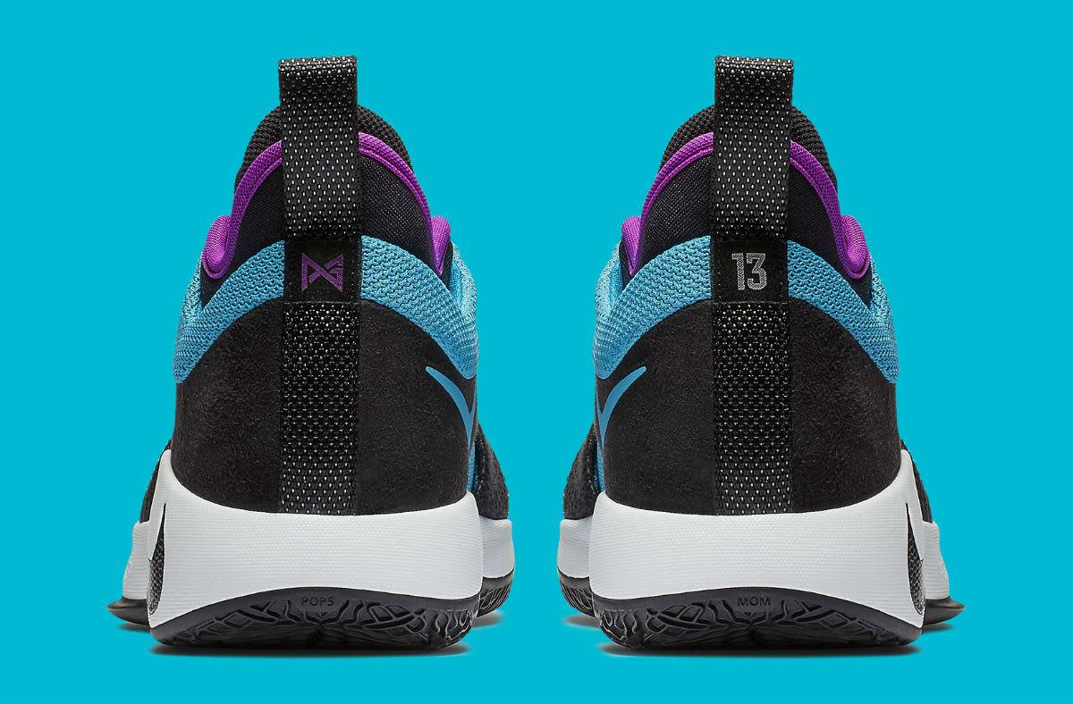 Nike PG 2 South Beach Blue Lagoon Release Date AJ2039-402 Heel