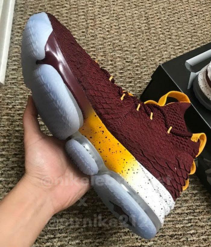 Nike LeBron 15 Christ the King CTK PE Maroon Medial