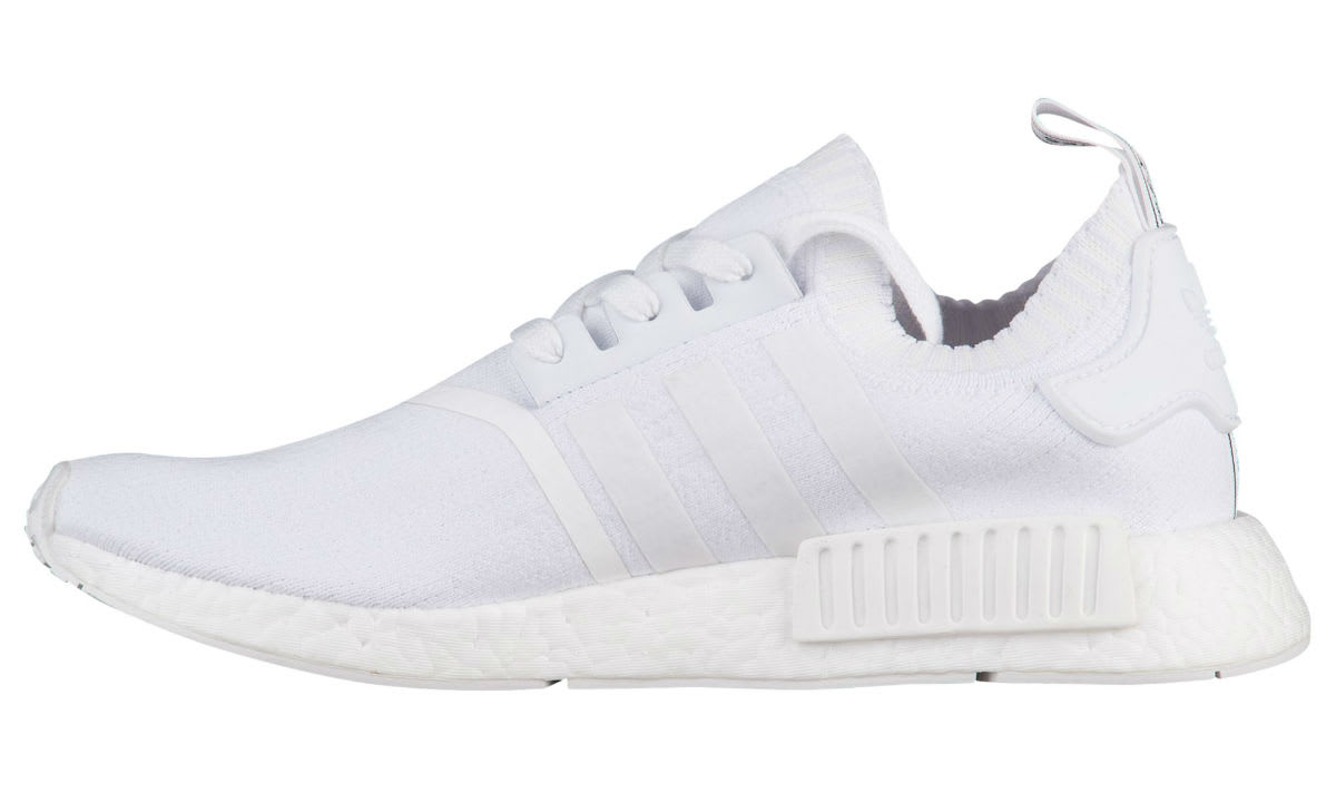 Adidas NMD Primeknit Japan Triple White Release Date Medial BZ0221