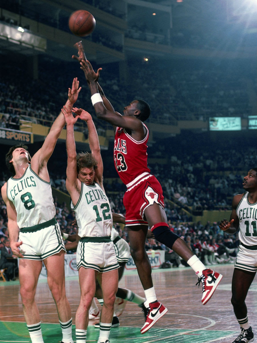 Michael Jordan Air Jordan 1 Strap Injury Celtics 1986