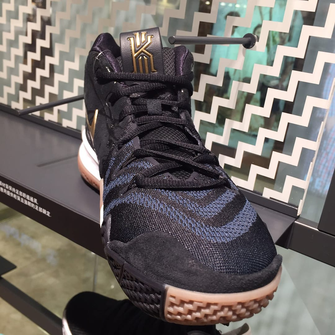 Nike Kyrie 4 Black Gold Gum Front