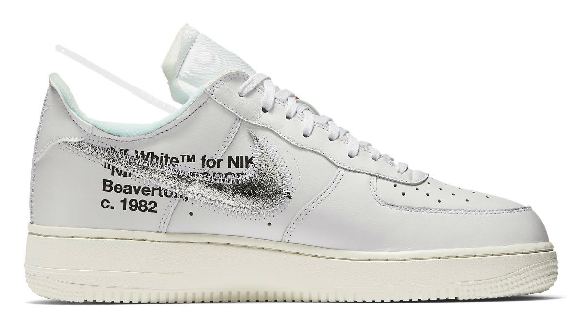 Off-White x Nike Air Force 1 Low Complex Con Release date AO4297-100 Medial