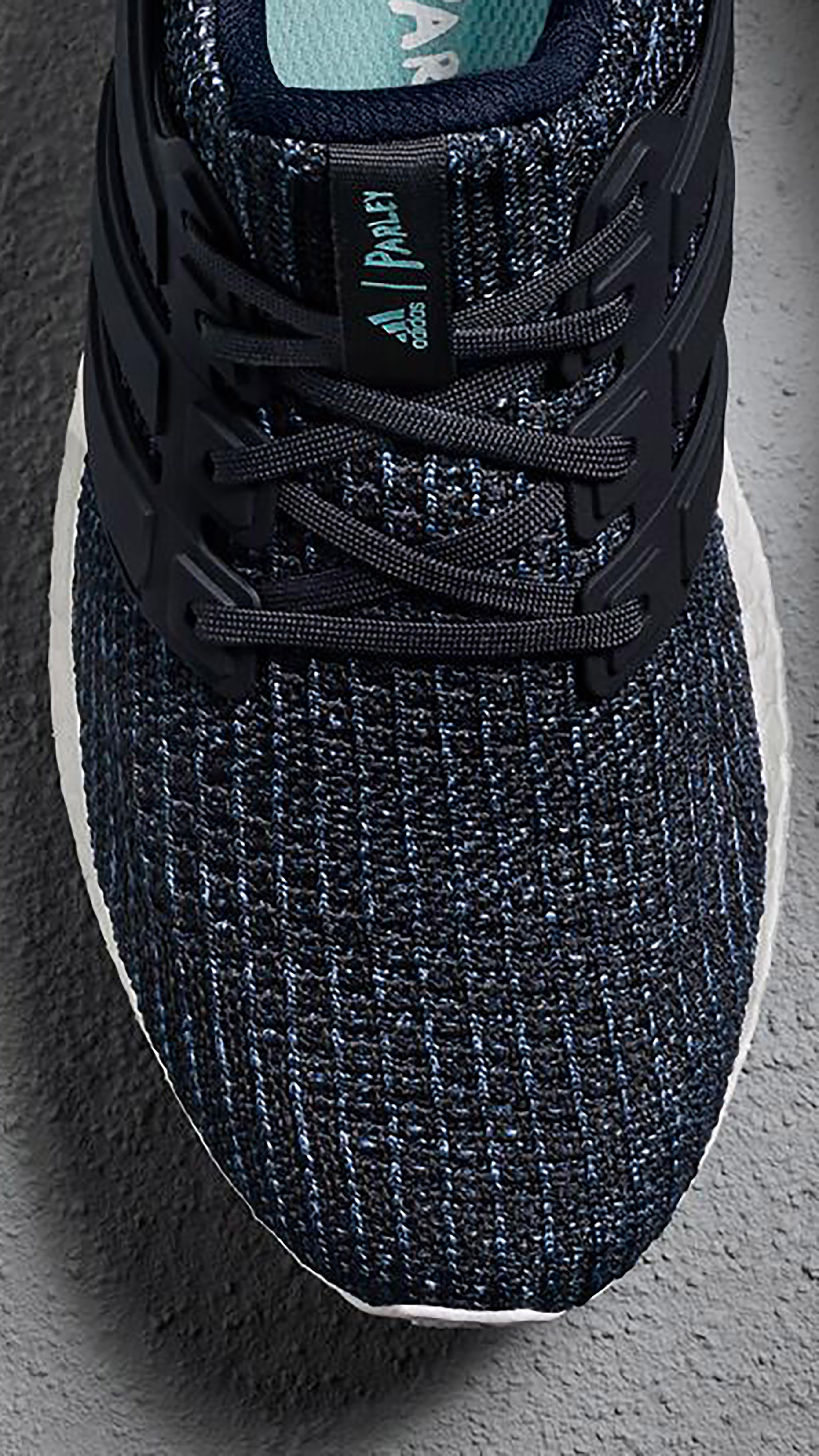 Parley x Adidas Ultra Boost 'Deep Ocean Blue' Men's (Detail)