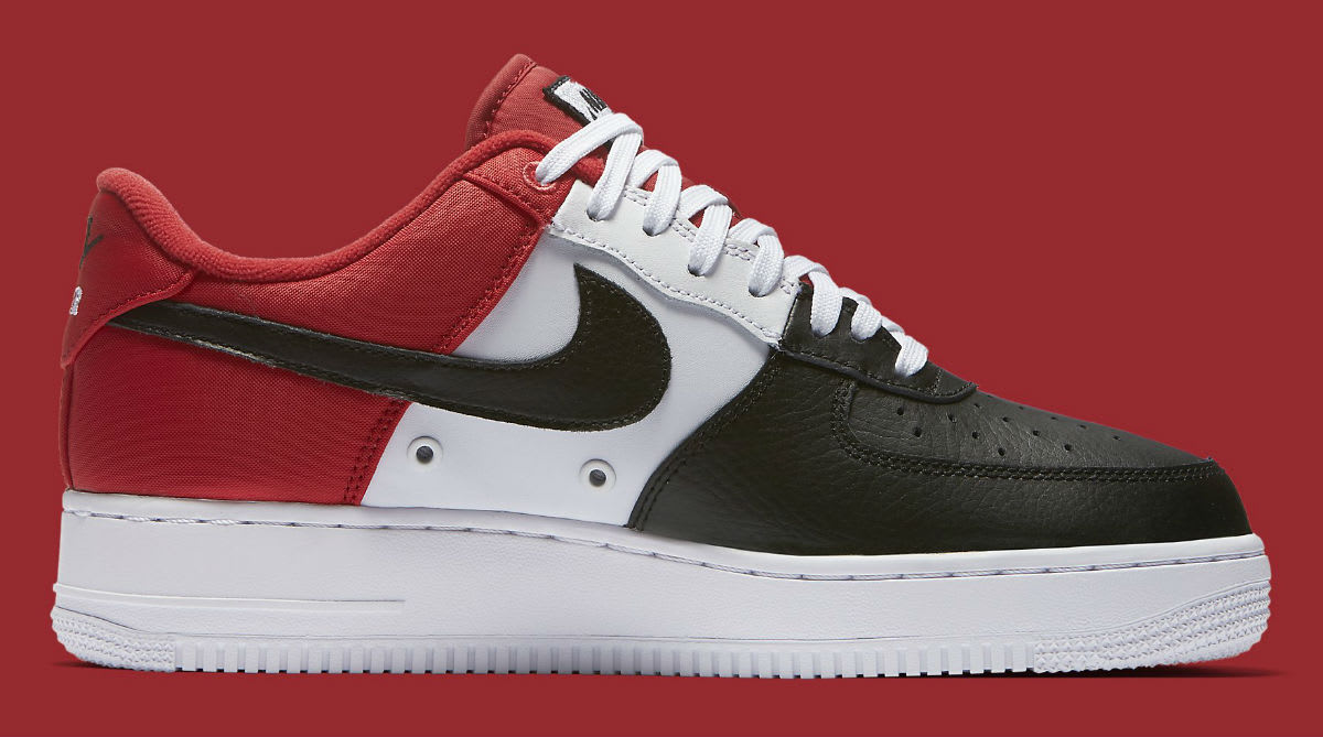 Nike Air Force 1 Low Mini Swoosh Chicago Black Toe Release Date Medial 823511-603
