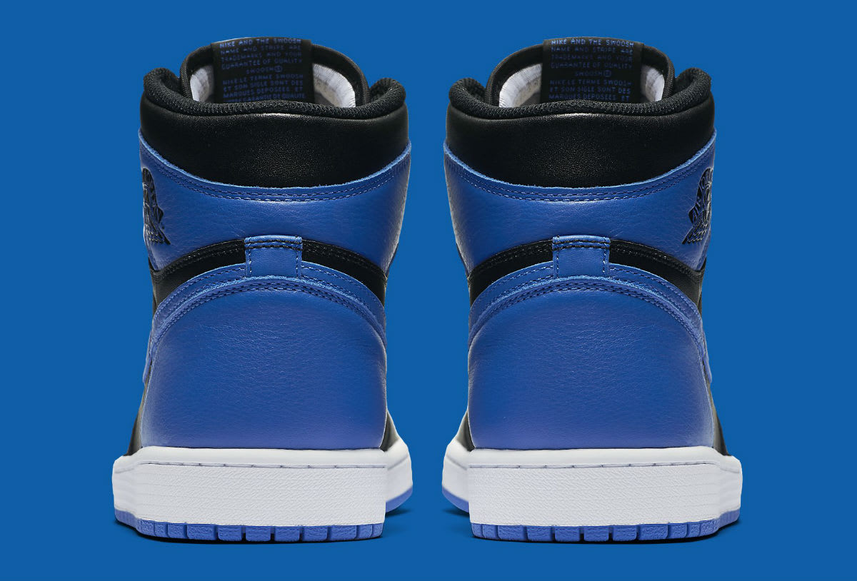 Air Jordan 1 Royal 2017 Release Date Heel 555088-007
