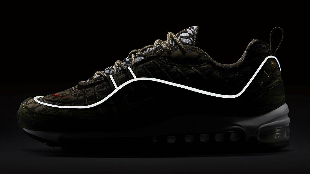 Nike Air Max 98 AOP Camo Khaki Release Date AQ4130-200 3M