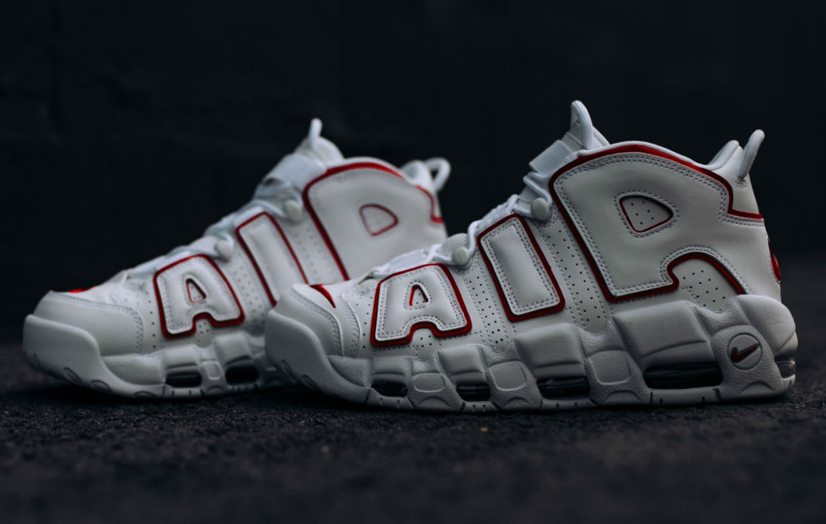 Nike Air More Uptempo Varsity Red Release Date 921948-102 Left