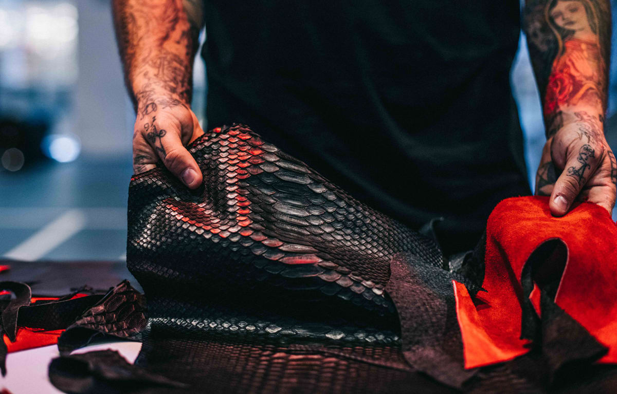 Python Air Jordan 13 Bred Materials