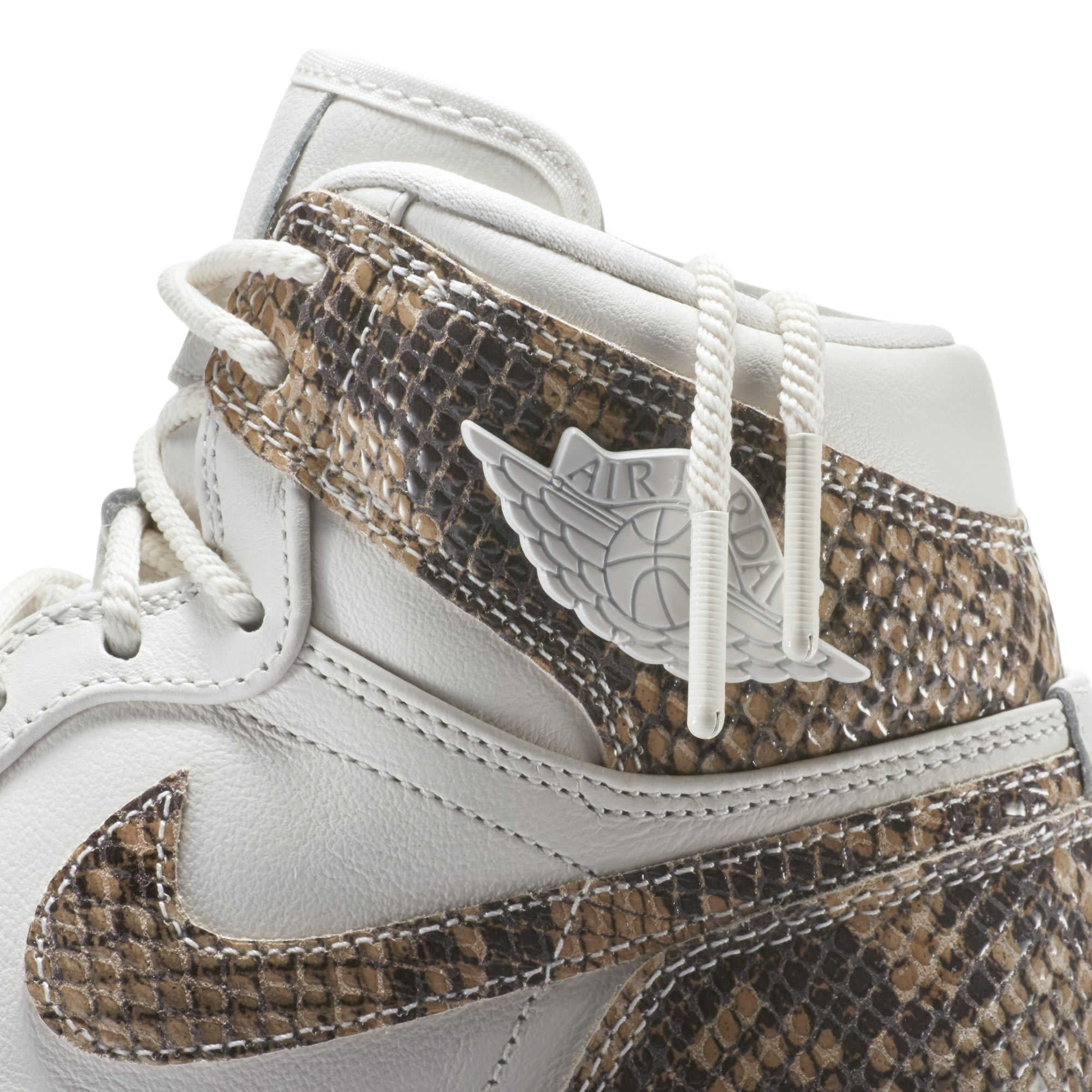 Air Jordan 1 Retro High Premium Women's Snake 'Phantom/White' AH7389-004 (Detail)