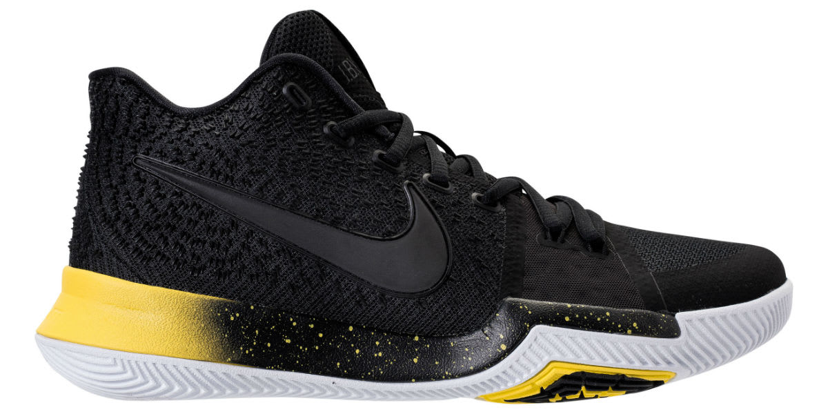 2546a4aadacb ... sale nike kyrie 3 black yellow release date profile 852395 901 080c5  bb9ab