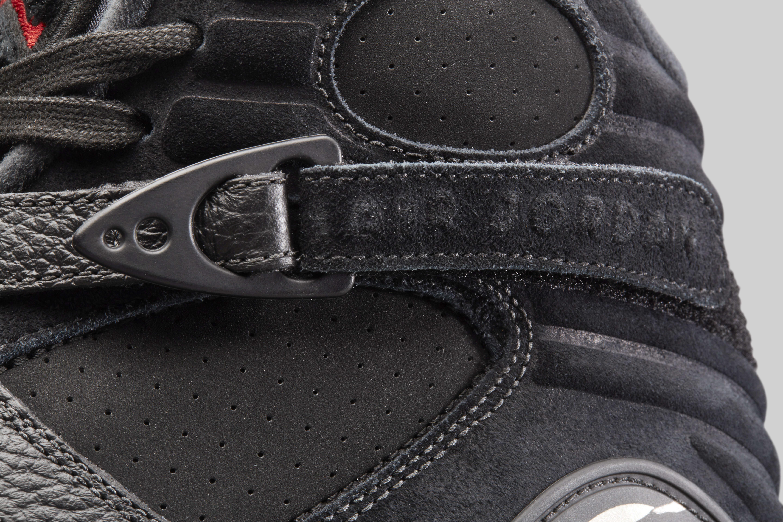 Air Jordan 8 'OVO' Black/Metallic Gold-Varsity Red-Blur AA1239-045 (Strap)