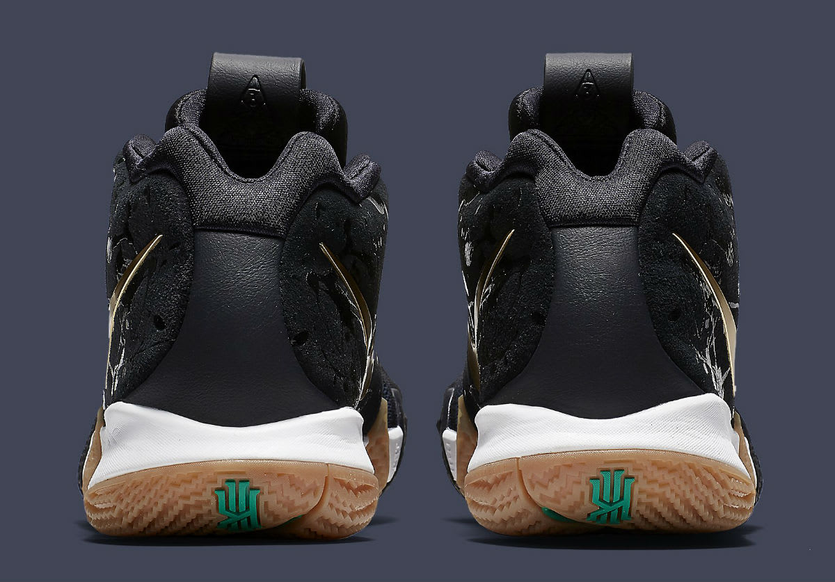 Nike Kyrie 4 Pitch Blue Gold Release Date 943807-403 Heel