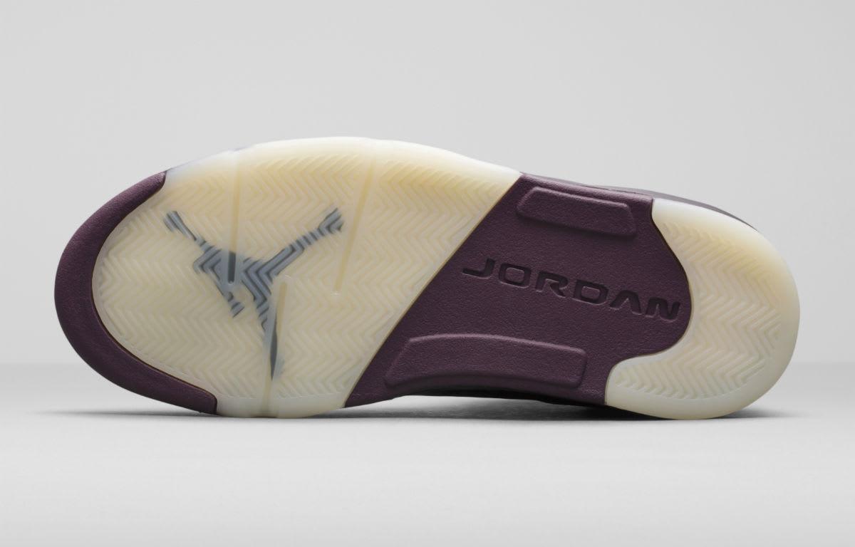 Air Jordan 5 Premium Bordeaux Release Date Sole 881432-612