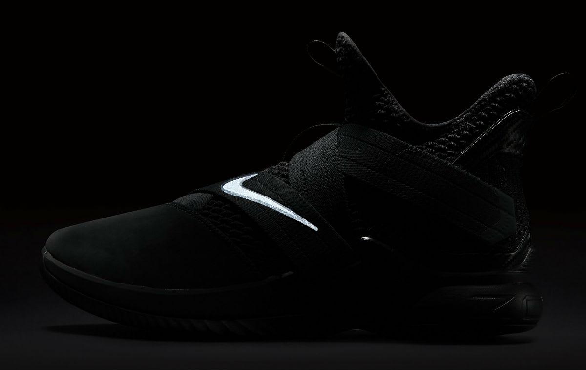 Nike LeBron Soldier 12 XII Zero Dark Thirty Triple Black Release Date AO4054-002 3M